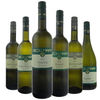 Bild 1 von 1 - Weingut Krollmann, Probierpaket, Weiß & trocken